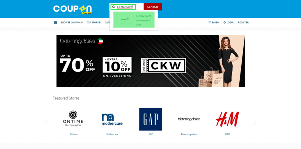 Centrepoint Coupon.kw