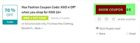 Max Fashion Code