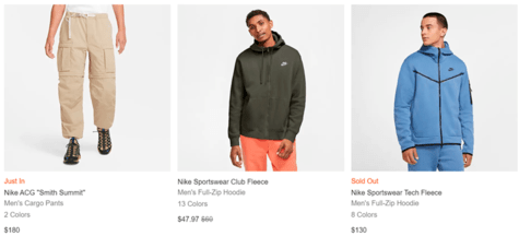 Nike Clothing