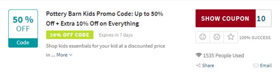 Pottery Barn Kids Discount Code
