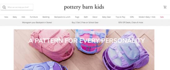 Visit Pottery Barn Kids's official website