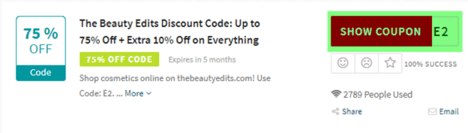 The Beauty Edits Code