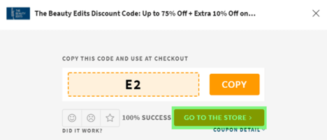 The Beauty Edits Coupon