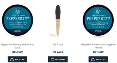 The Body Shop Feet